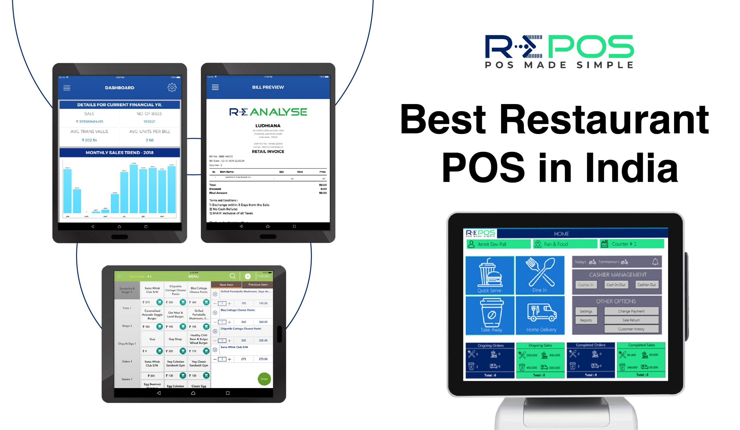 RePOS Best Restaurant POS (Point of Sale) in India