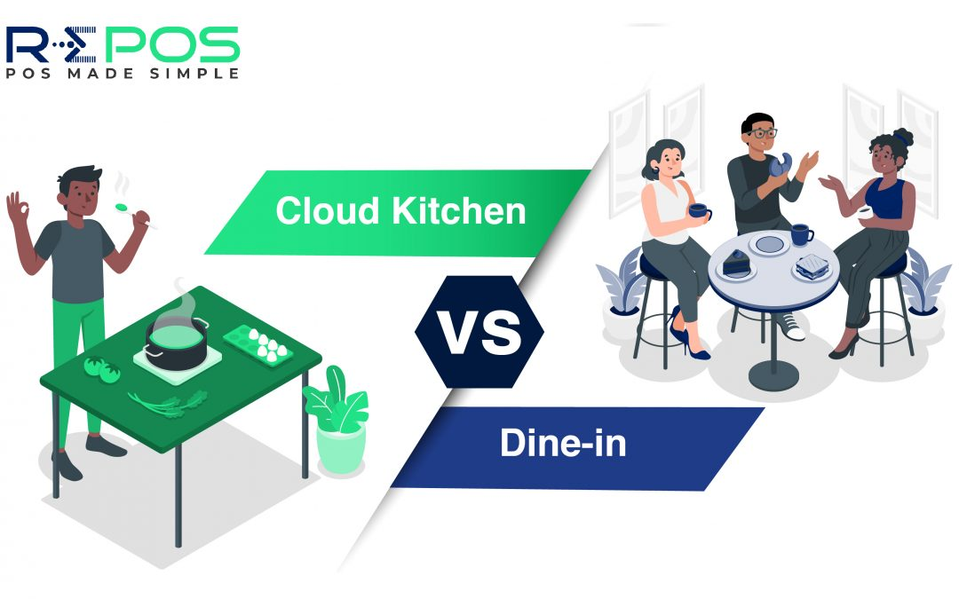 Cloud kitchen vs Dine-in